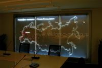 Акриловая светодиодная карта для зала переговоров. География региональных предприятий
