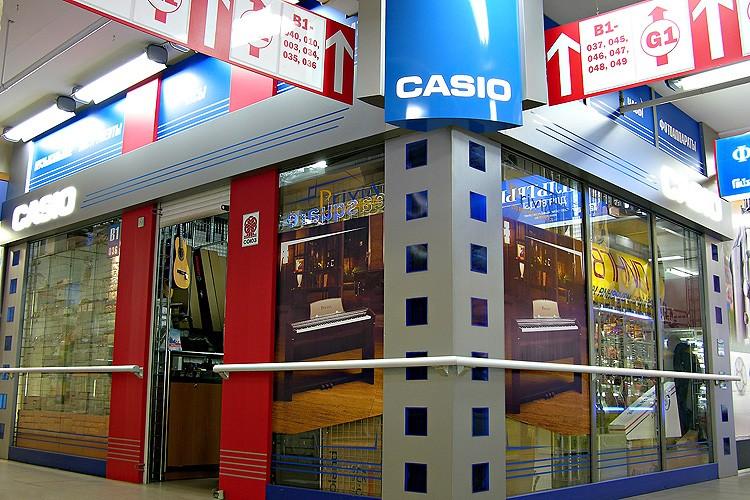 Рекламное оформление торгового павильона Casio