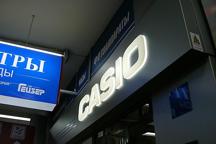 Объёмные световые буквы для павильона Casio