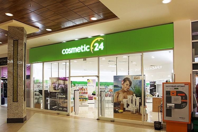 Интерьерная вывеска для магазина косметики в торговом центре