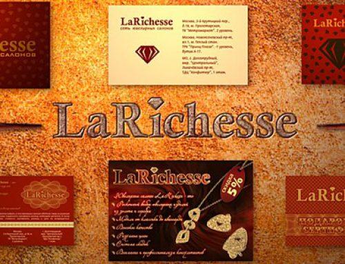 Дизайн полиграфической продукции для ювелирных салонов LaRichesse