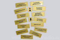 Экономичные антивандальные таблички для школьных классов