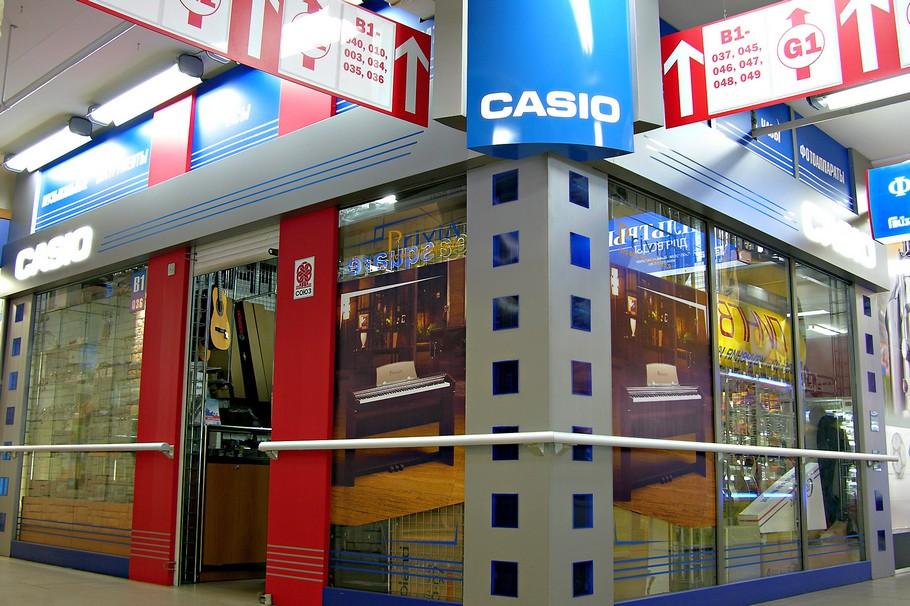 Общий вид. Рекламное оформление торгового павильона Casio