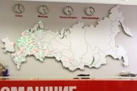 Бюджетная светодиодная карта России в офис компании