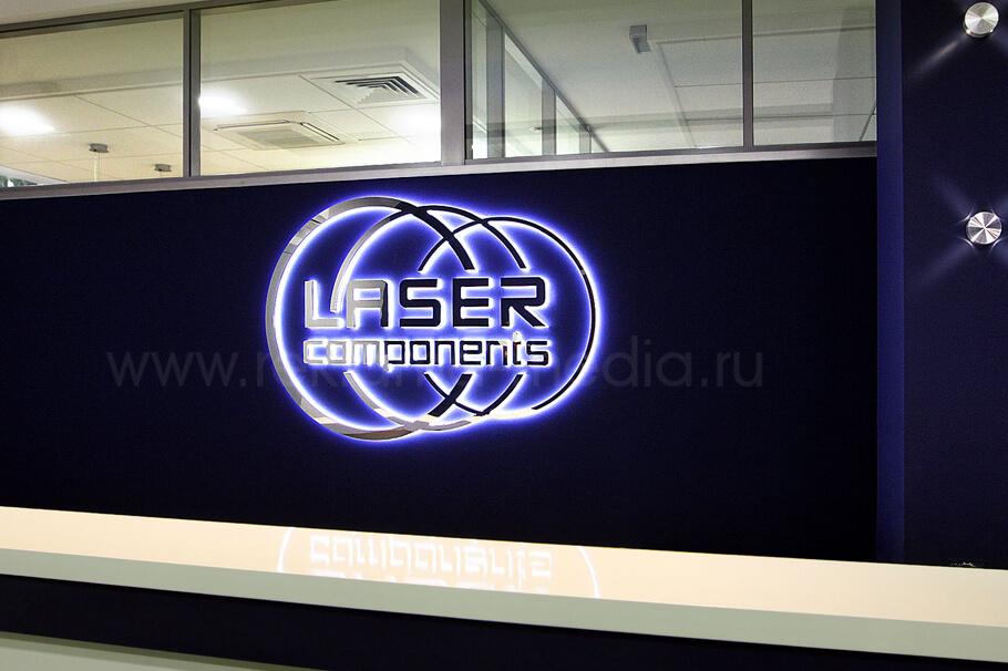 Интерьерная вывеска премиум уровня светодиодный логотип для офиса