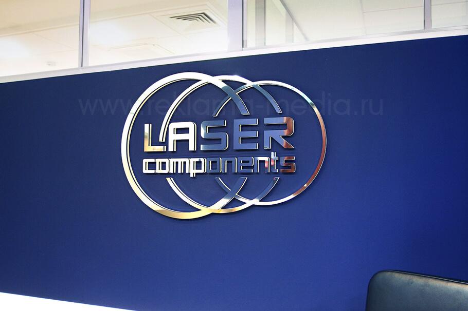 Интерьерная светодиодная вывеска для зоны ресепшен компании