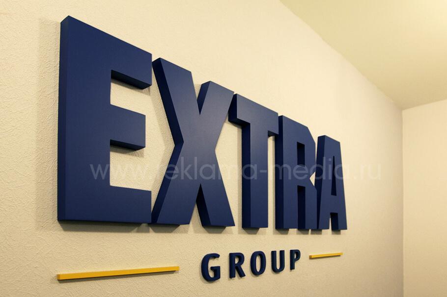 Крупный план Недорогие объемные буквы для офиса компании