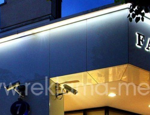 Фасадные вывески для бутика одежды «Fabiana Filippi»