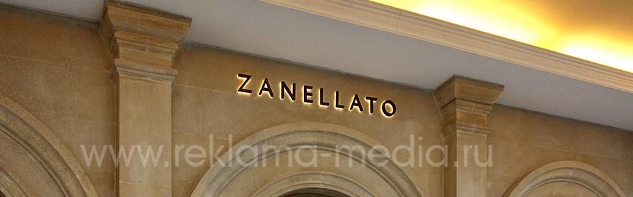 Вывеска для бутика аксессуаров Zanellato