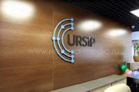 Объёмный экономичный логотип на стену офиса