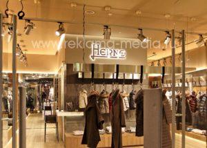 Двухслойные светодиодные буквы вывеска для брендового магазина одежды