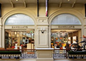 Световые вывески в торговом центре для флагманского магазина Zanellato