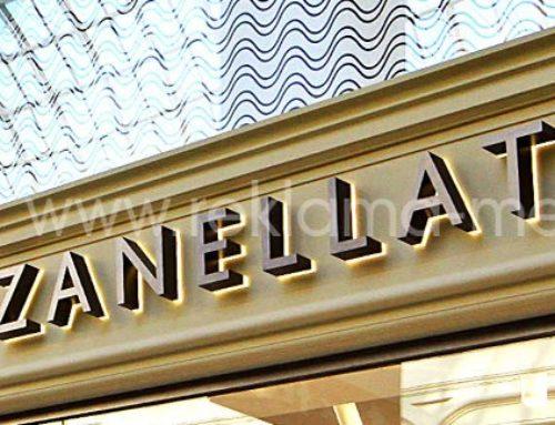 Световые вывески для флагманского магазина Zanellato в ГУМ