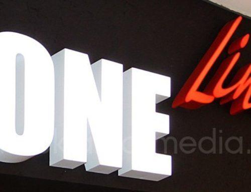 Вывески для офлайн-магазина дизайнерской одежды One Line в торговом центре